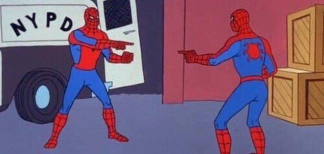 Spiderman double meme