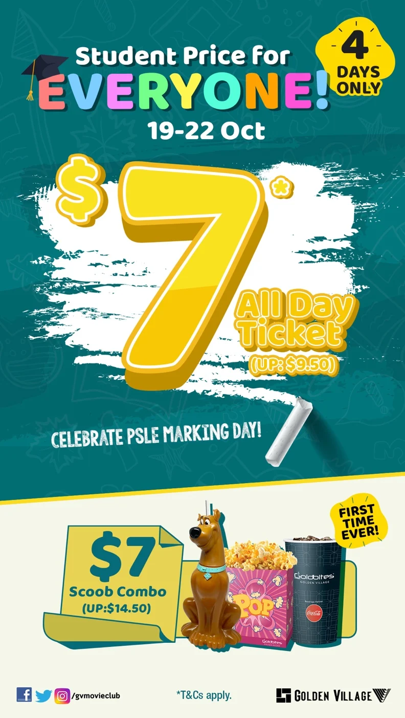 Golden Village $7 promotion