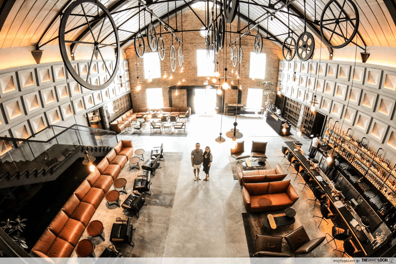 warehouse hotel lobby