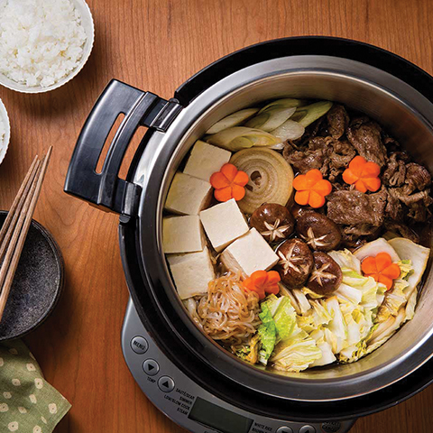 The zojirushi multicooker is idea for those with bigger cuts of meat or often have hot pots.