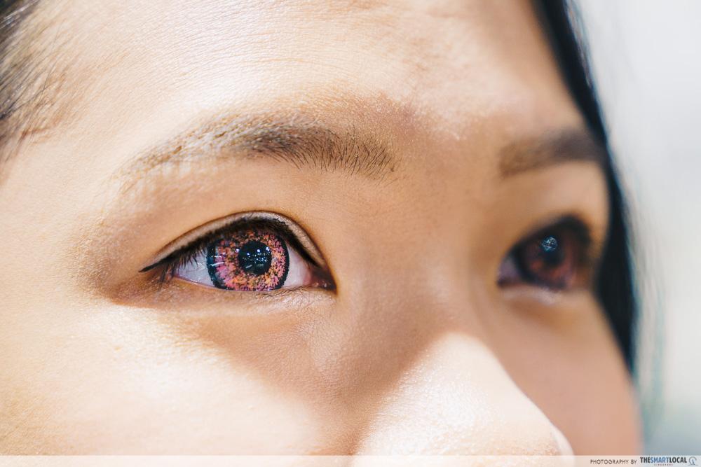 OWNDAYS Velvet Pink colour contact lens