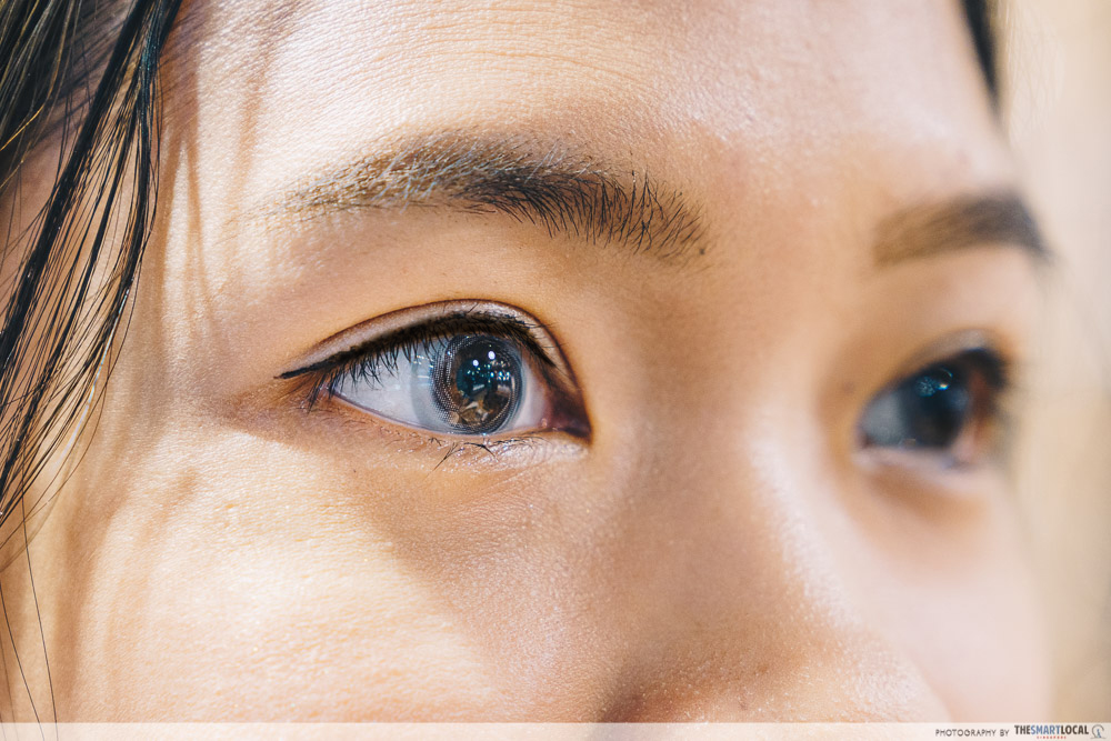 OWNDAYS grey colour contact lens