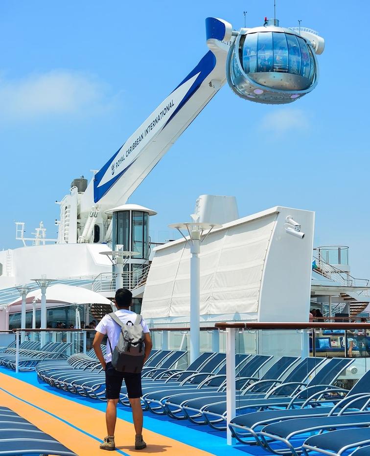 royal caribbean ocean getaway cruise - North Star observation deck
