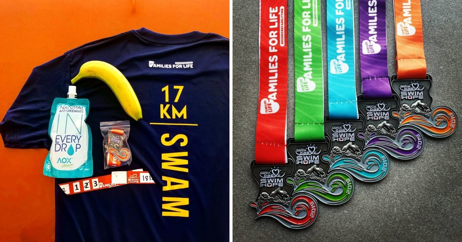 Medal and goodies