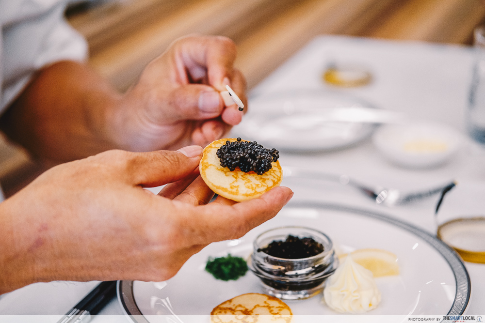 SIA@Home meal delivery review - the oscietra caviar on a blini