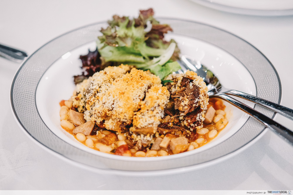 SIA@Home meal delivery review - the australian menu with duck confit and pork sausage cassoulet