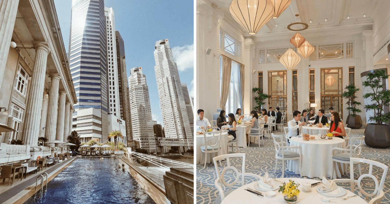 fullerton hotel infinity pool jade cantonese restaurant
