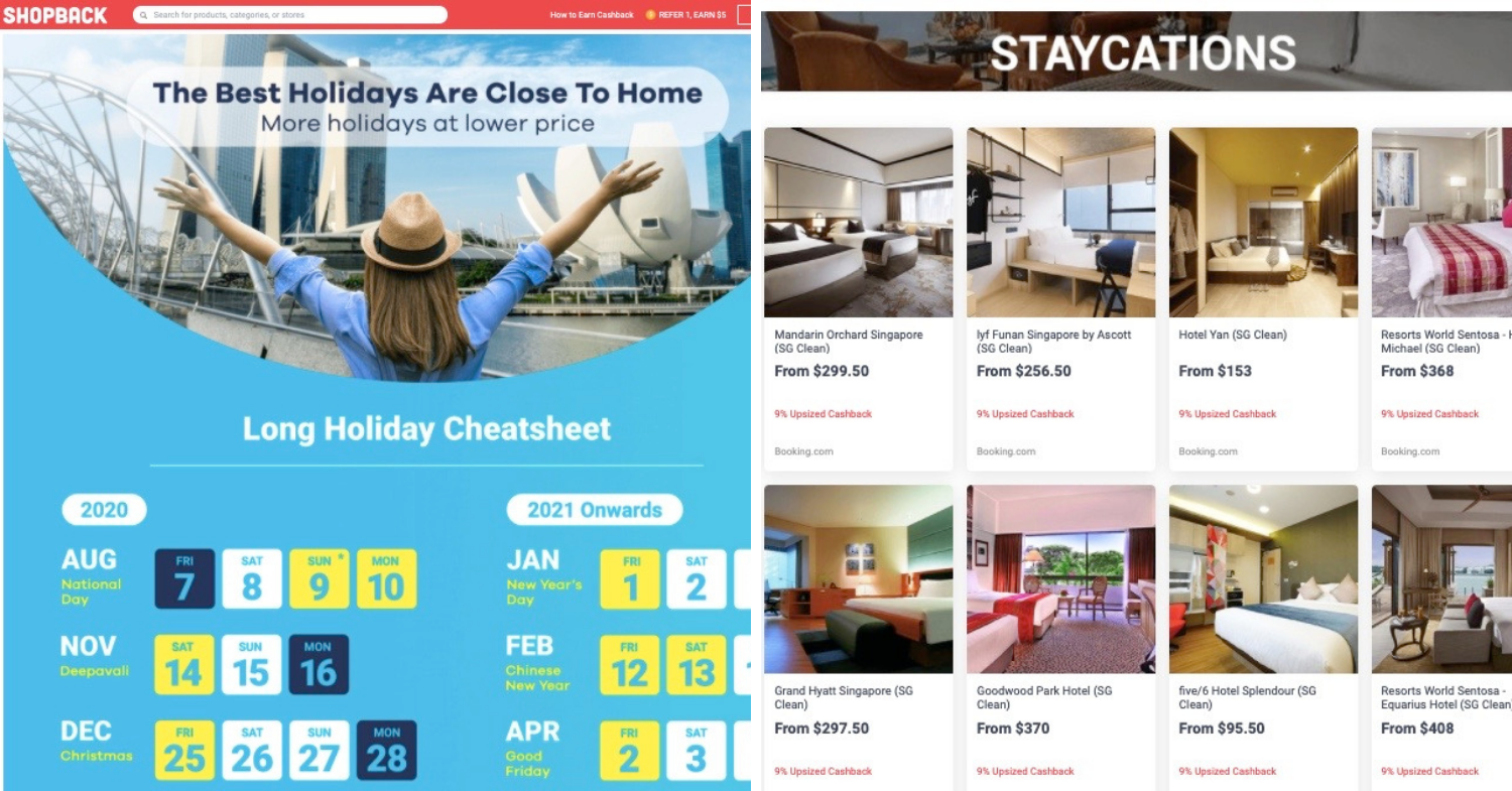 shopback sale staycation deals