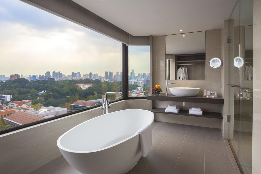 carlton hotel room bathtub staycation deal