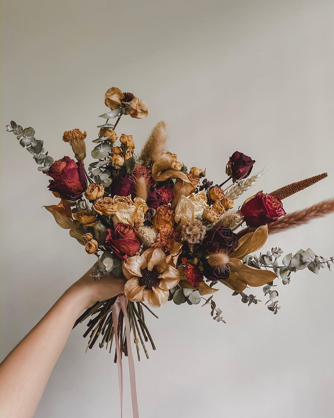 Preserved floral bouquet