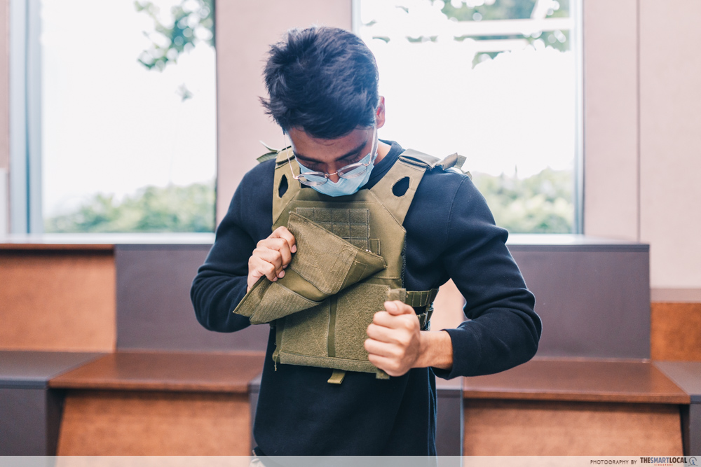 Airsoft Arenas - colour coded protective vest