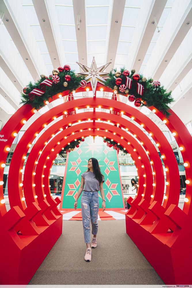 Christmas arch at Marina Square