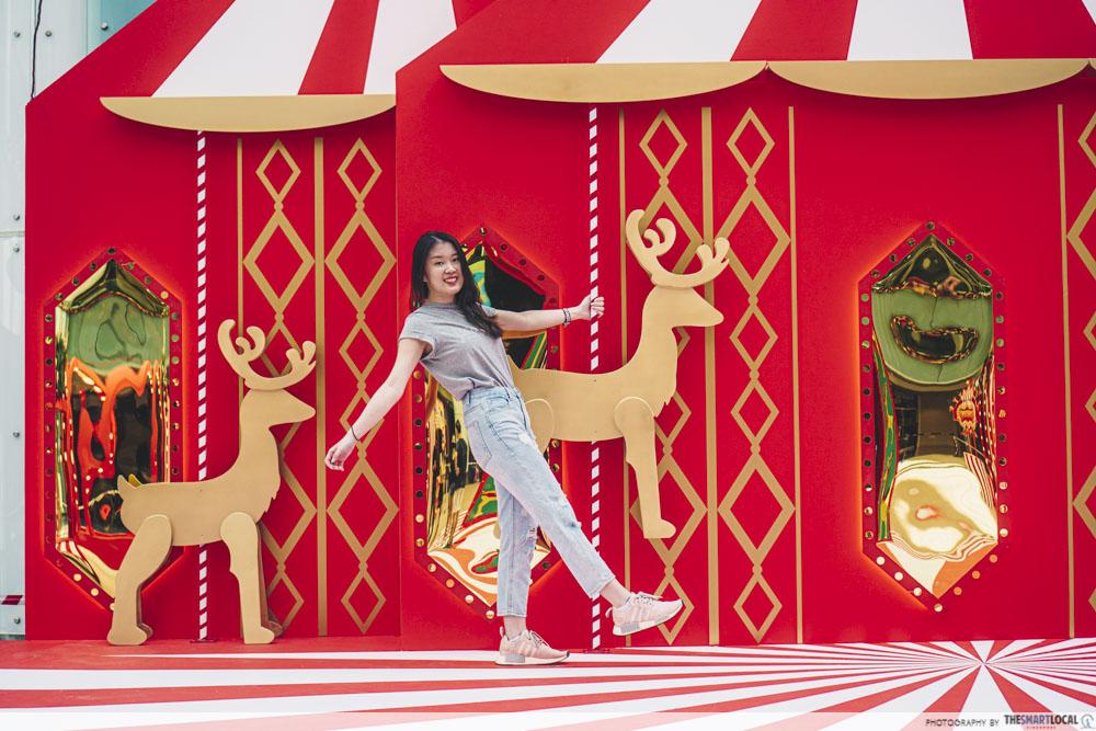 Reindeer decor at Marina Square