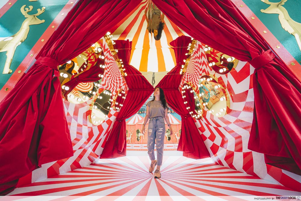 Circus themed decor Marina Square