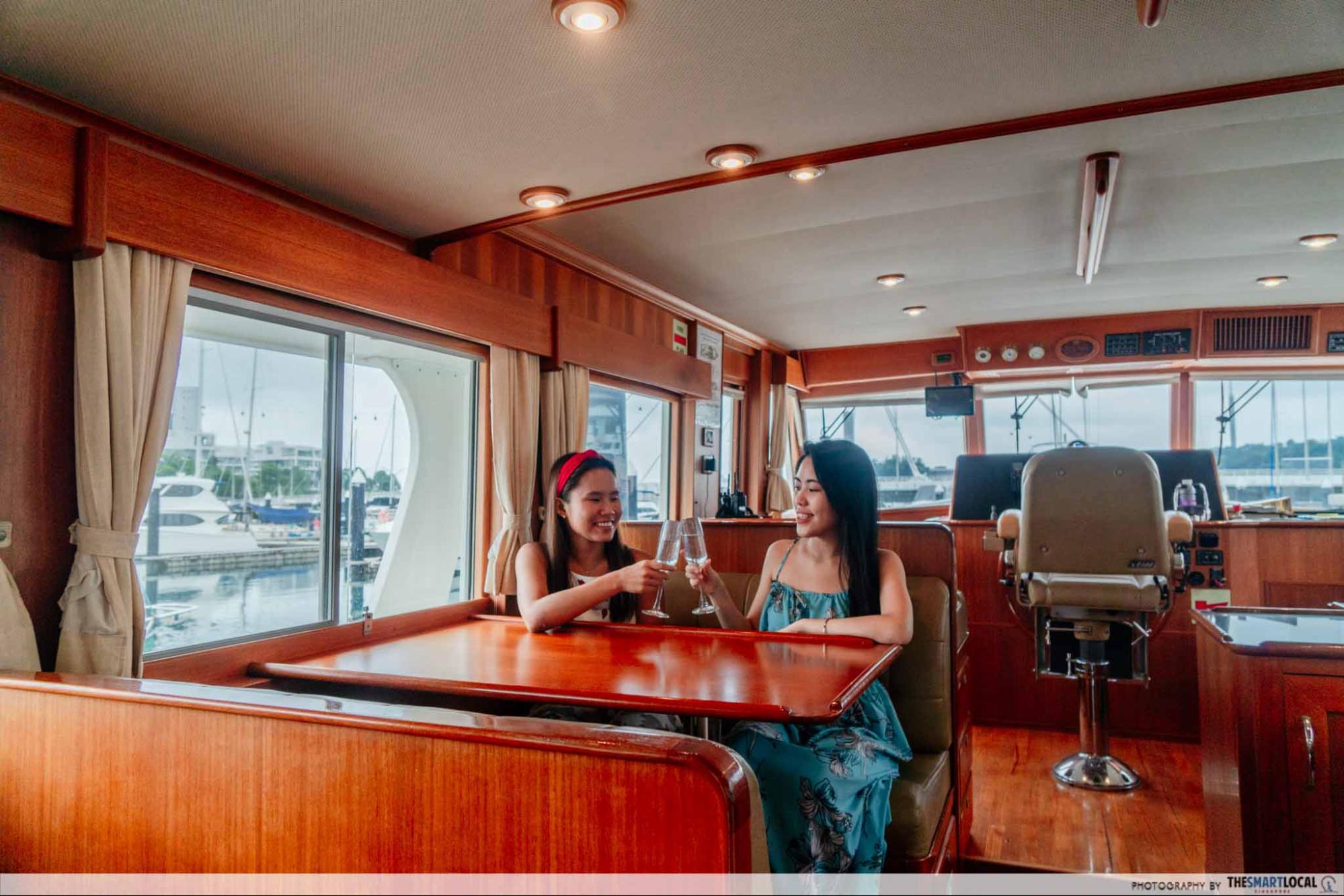 Yacht Interior Singapore Charter