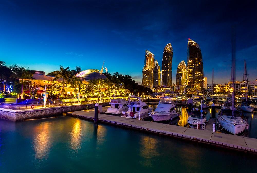Marina at Keppel Bay - Night Scenery