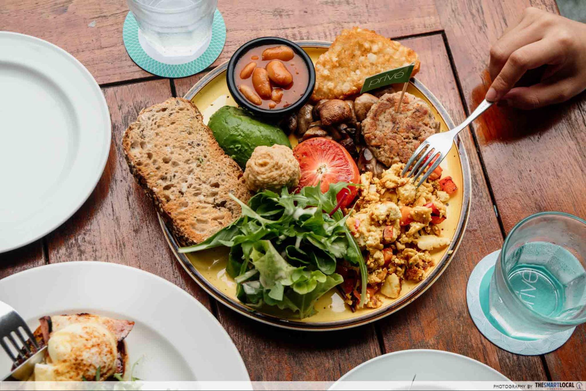 Privé - Plant Power Breakfast Vegan Platter
