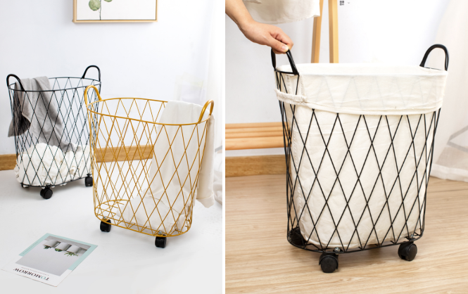 Minimalist Furniture Taobao. - Grid mesh laundry basket