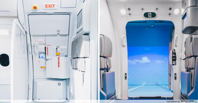 Aircraft door mock-ups