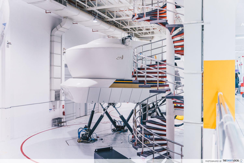 Flight simulators at SIA Training Centre