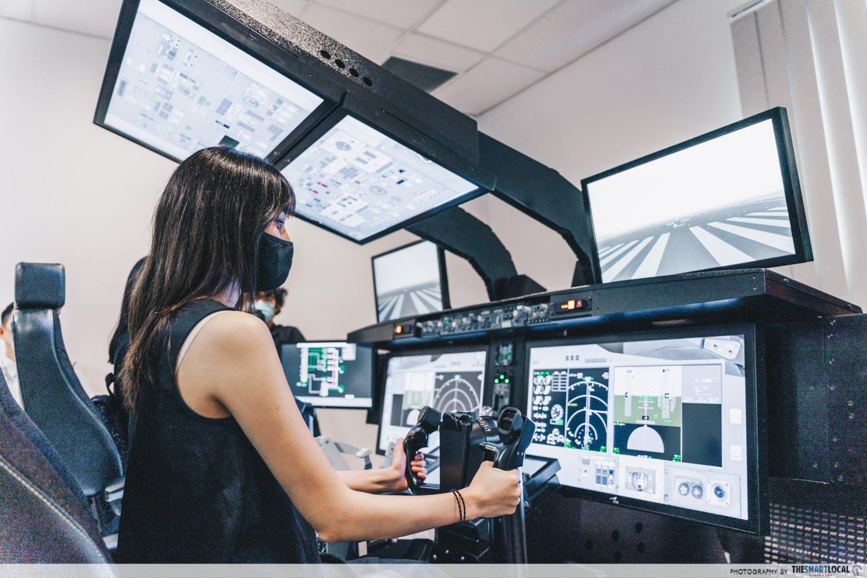 Pilot procedures training at SIA Training Centre