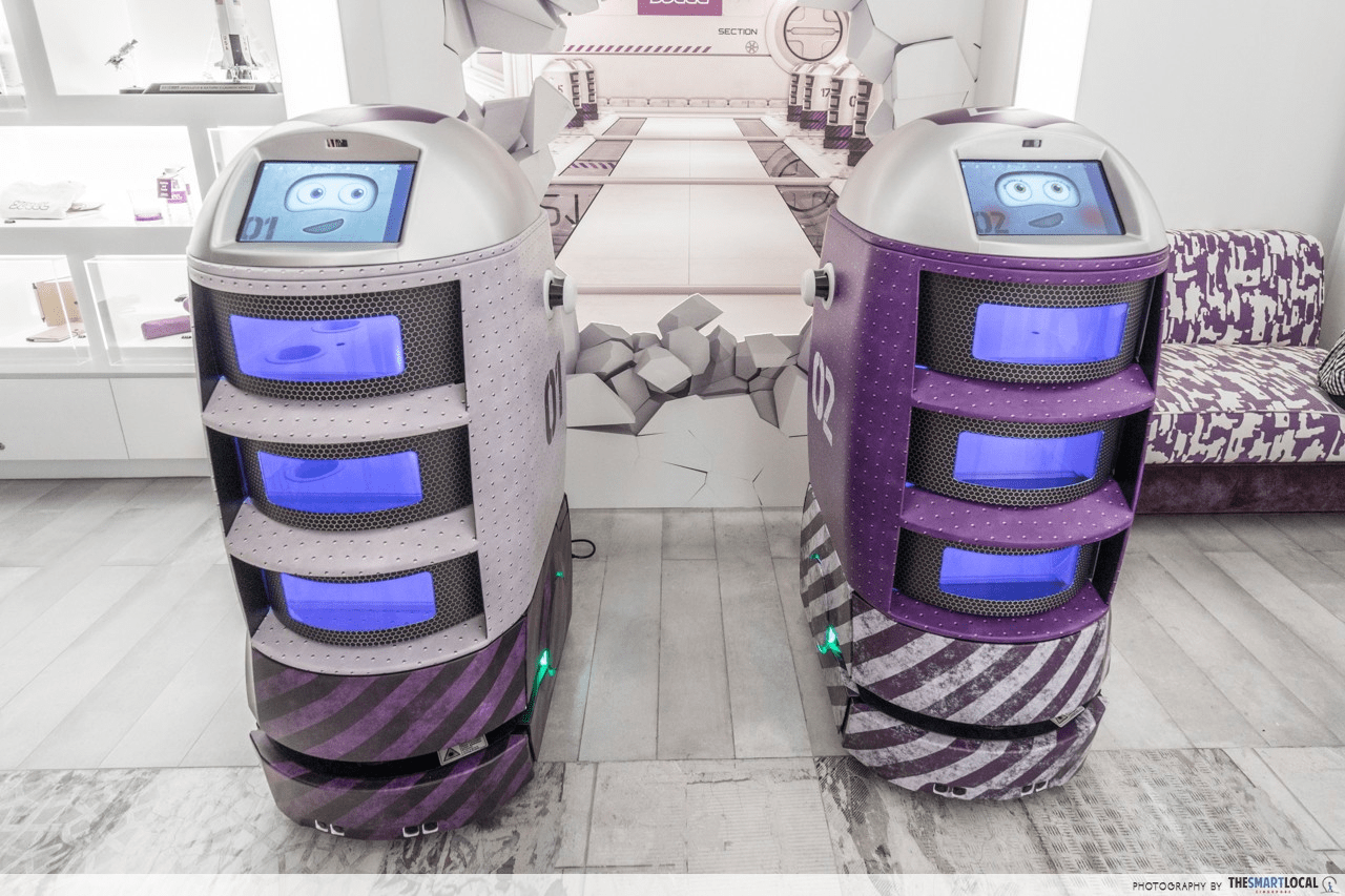 Guest service robots in a hotel in Sinagpore