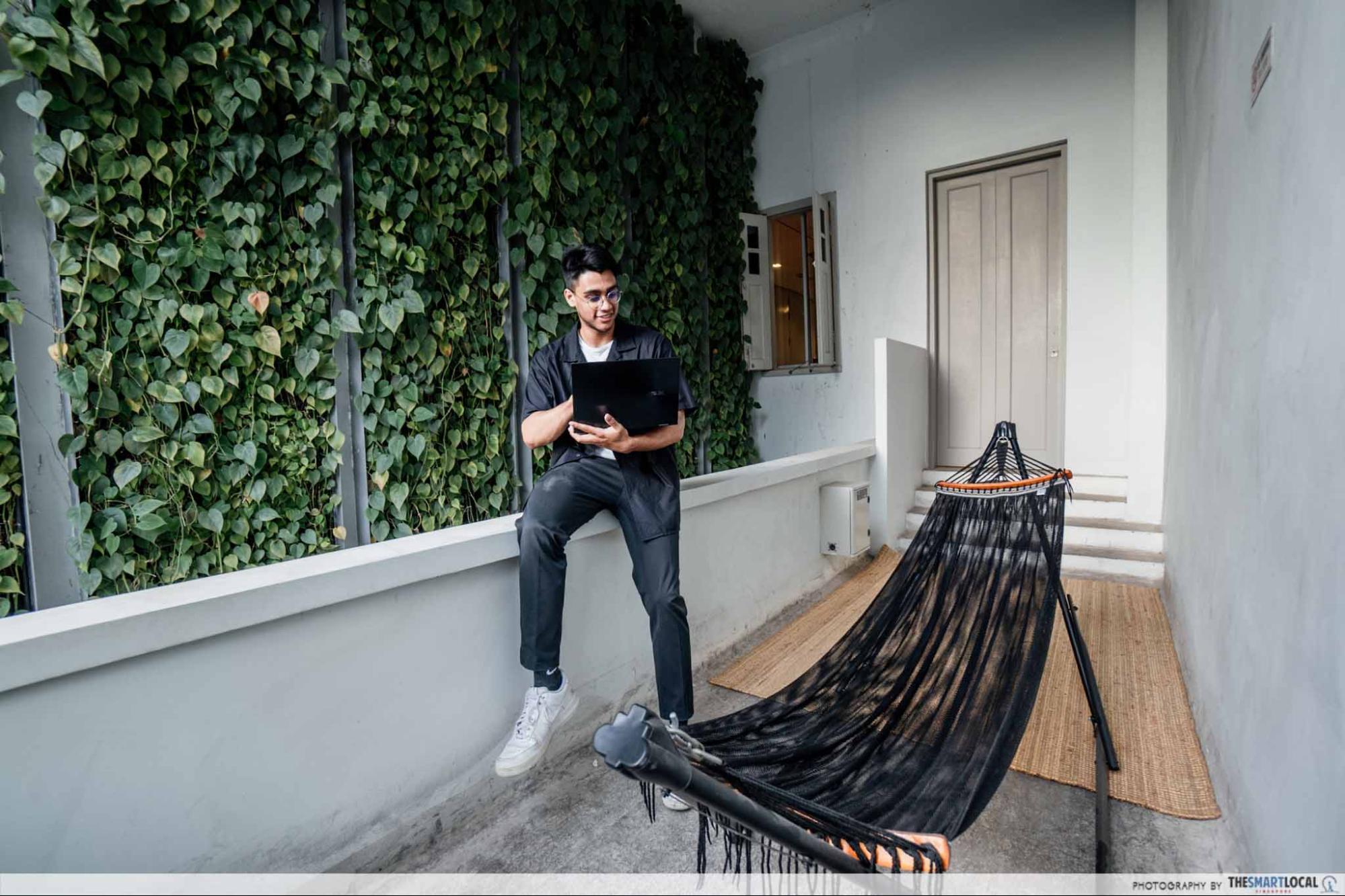 paperwork hammock, workspaces in singapore