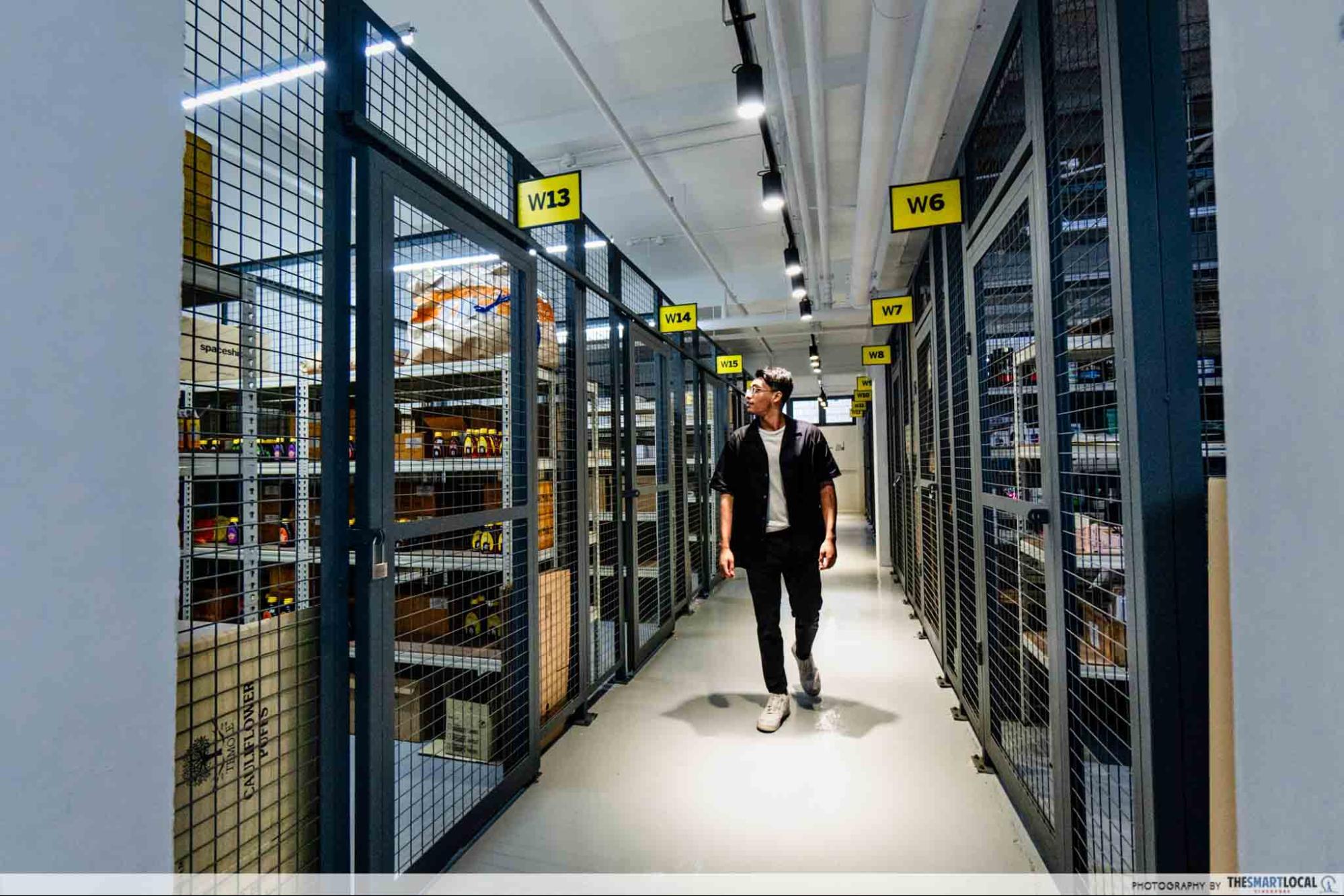 spaceship spacelabs storage space, workspaces in singapore
