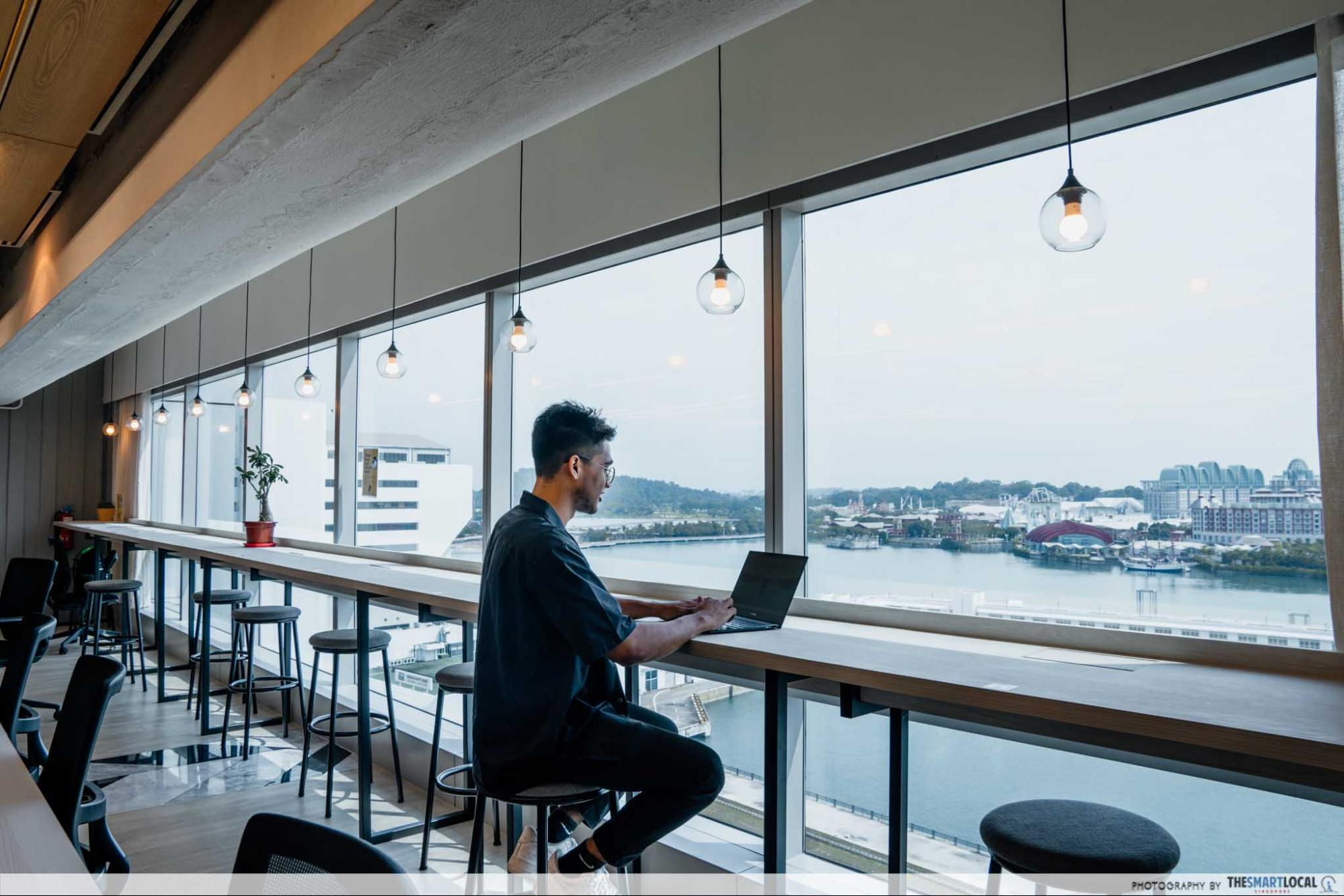 coqoons coworking view, workspaces in singapore