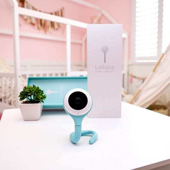 baby monitor singapore - the lollipop camera has a flexible tail that allows it to be mounted anywhere