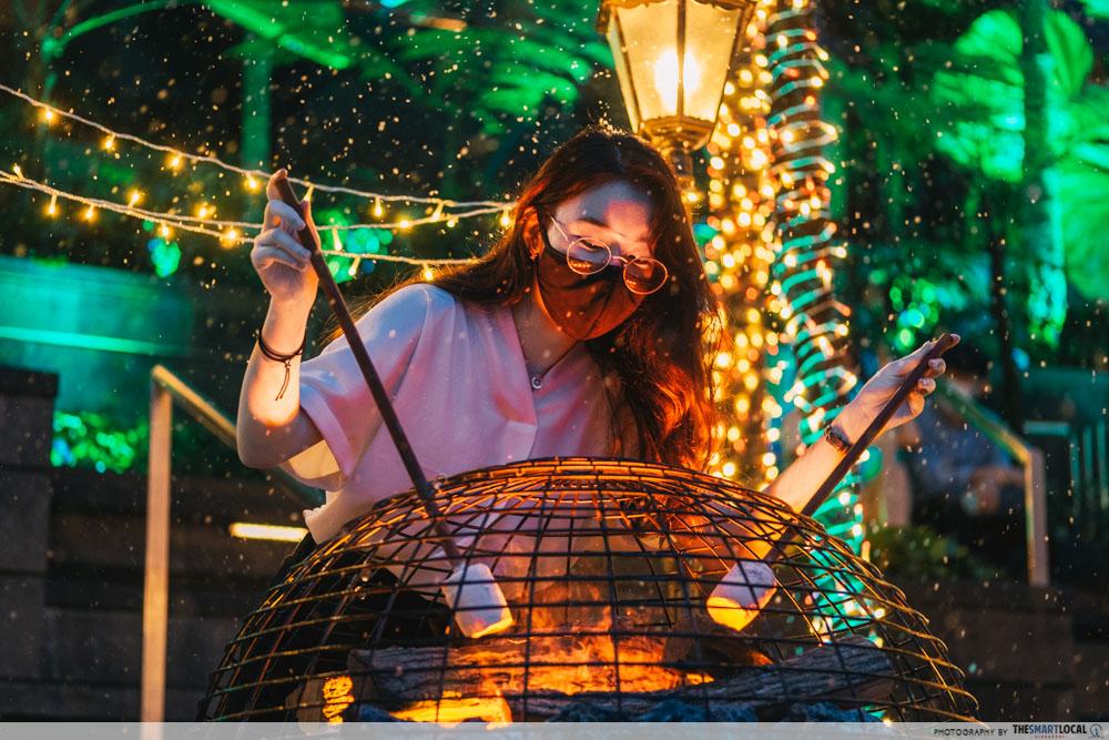 changi festive village - interactive displays