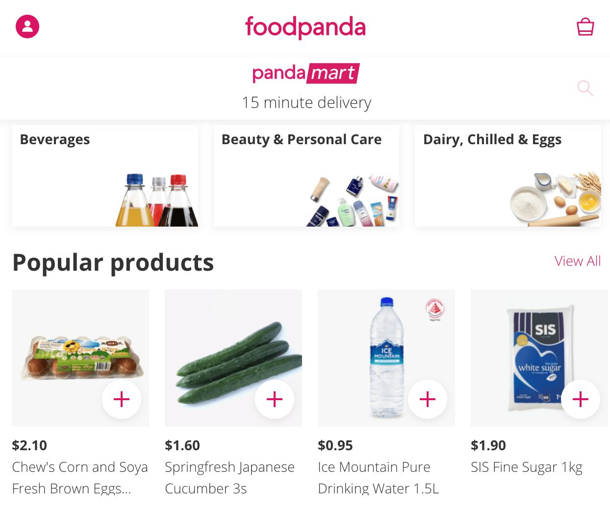 pandamart online groceries - foodpanda 11.11 sale