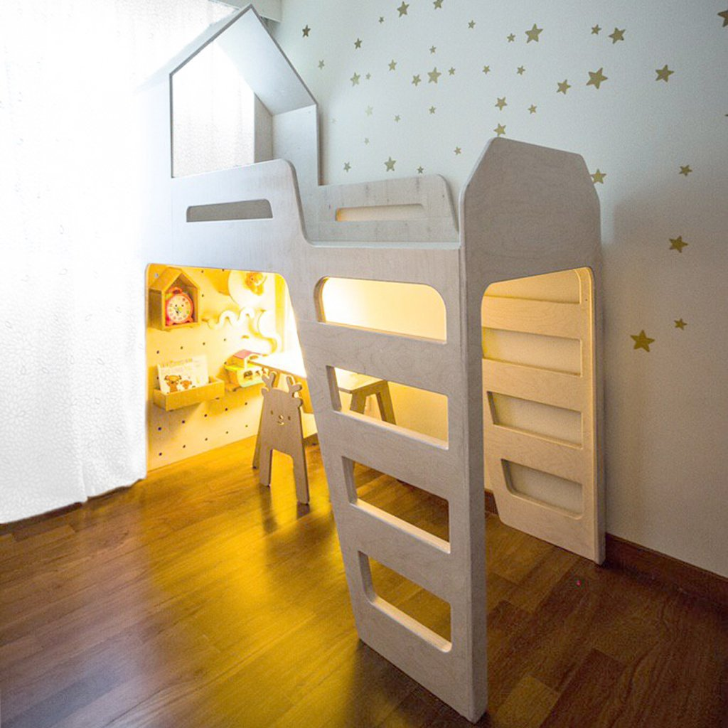 kid-friendly home - loft bed