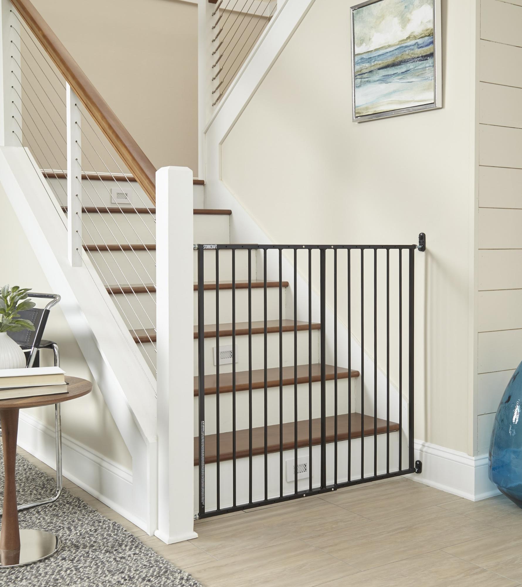 kid-friendly home - simple black gate