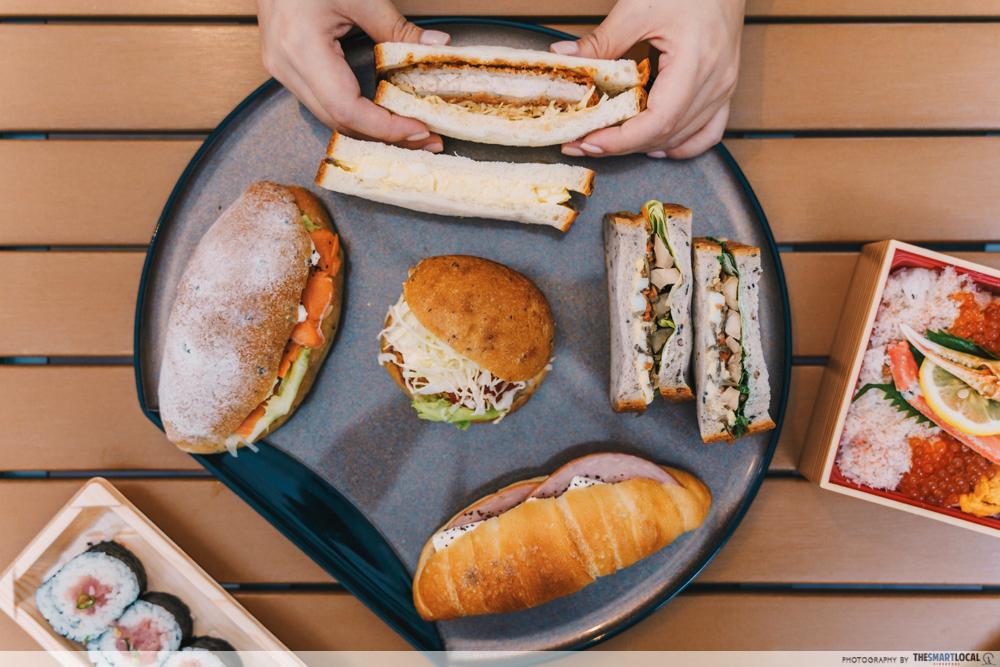 meidi-ya millenia walk - japanese sandwiches