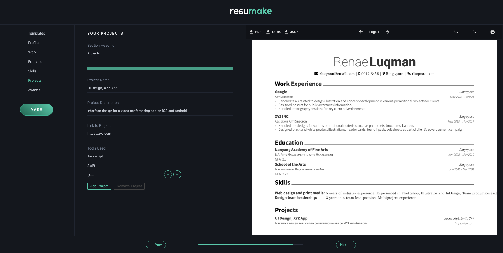 resume builder singapore - nine professional templates