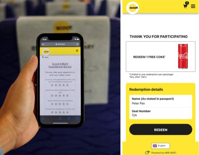 scoot inflight portal - survey