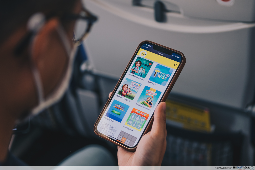 scoot inflight portal - games section