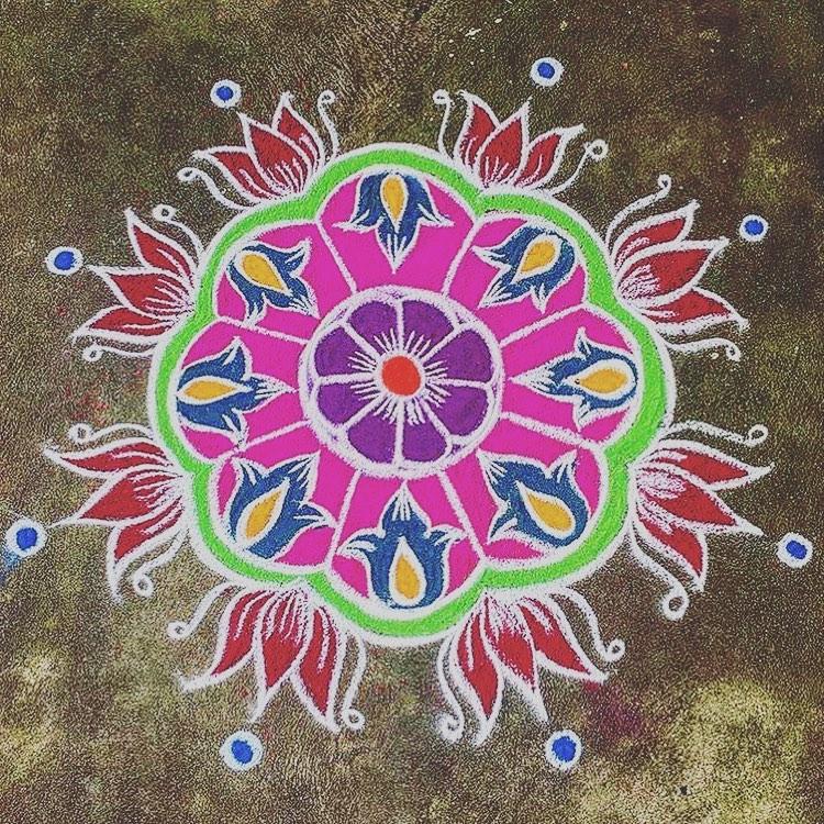 kolam and rangoli exhibition for deepavali at POLI @ Hindoo road, little india