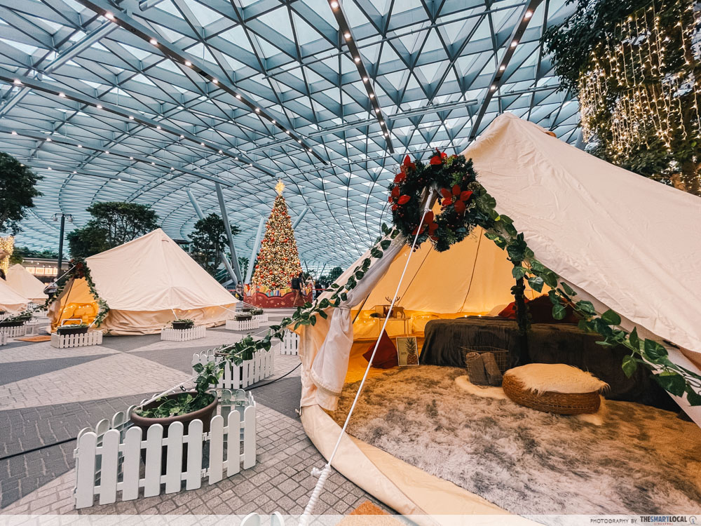 changi festive village - cloud9 glamping tents