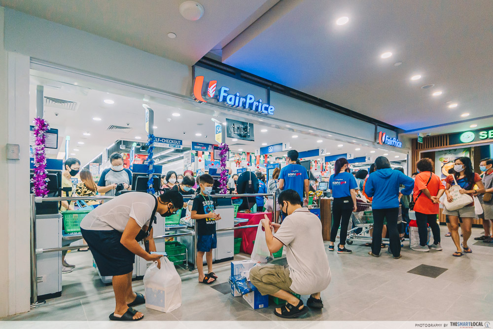 ntuc fairprice supermarket at canberra plaza