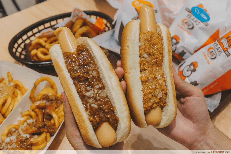 a&w hotdogs