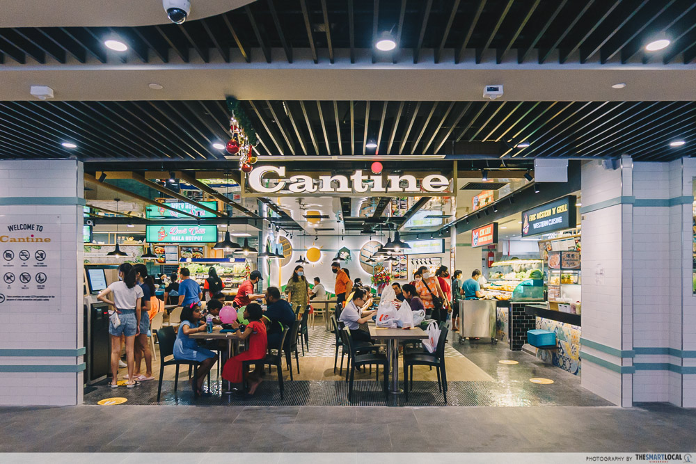 cantine food court at canberra plaza singapore