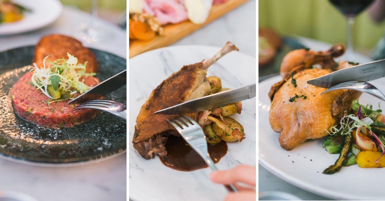 Ginette - Beef Tartare 'à la Montmartre, Le Confit de Canard, Le Coquelet De Ferme Rôti aux Herbes de Provence