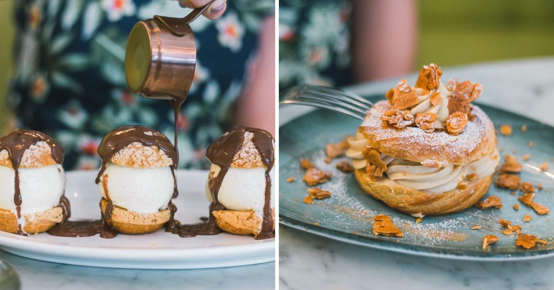 Ginette desserts - Profiteroles and Paris Brest