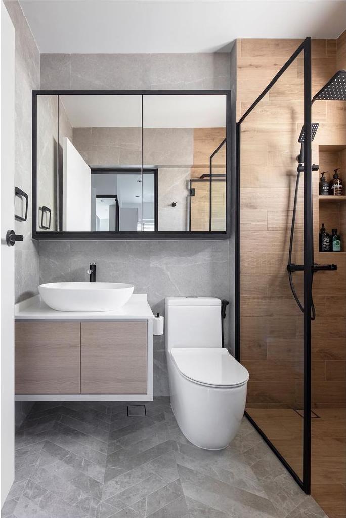 Large storage toilet mirrors