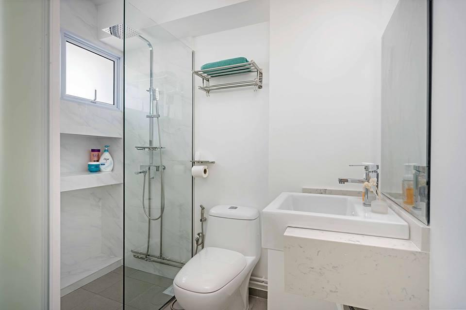 HDB Bathroom Renovation Tips - Bright palette