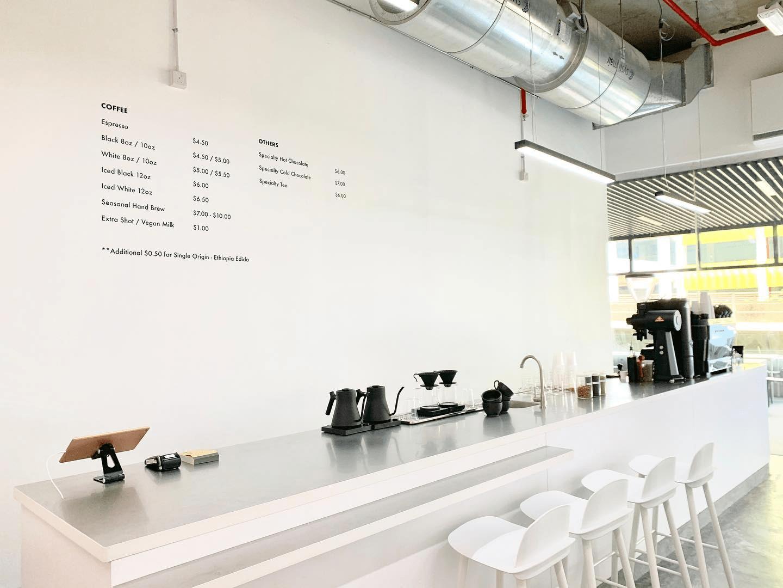 minimalist cafes singapore - Venture Drive Coffee