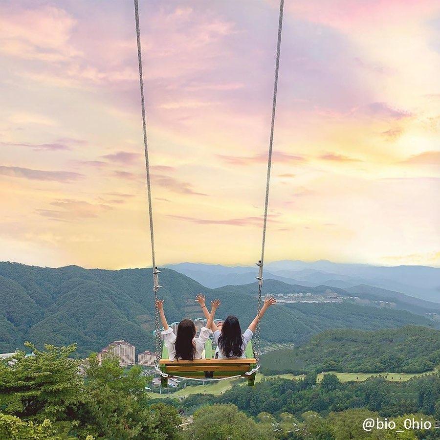 Things to do in Korea - Sky Swing, Vivaldi Park