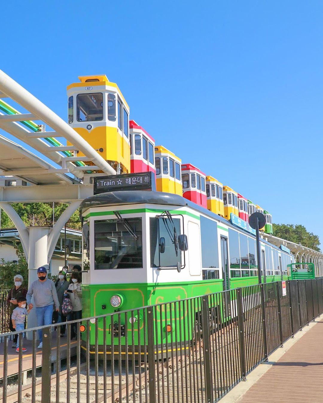 Haeundae Beach Train and Sky Capsule
